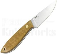 Brisa Bobtail 80 Fixed Blade Knife Mustard Micarta