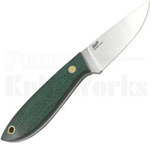 Brisa Bobtail 80 Fixed Blade Knife Green Micarta