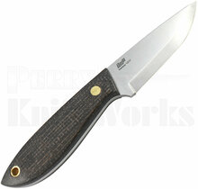 Brisa Bobtail 80 Fixed Blade Knife Bison Micarta