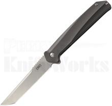 CRKT Helical Linerlock Knife Black Aluminum K500GXP