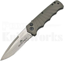 Delta Force Automatic Knife Gray Aluminum Satin Serrated