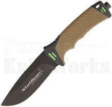 StatGear Surviv-All Survival Fixed Blade Knife Brown