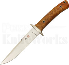 Al Mar 25th Anniversary Shiva Fixed Blade Knife Quince Wood