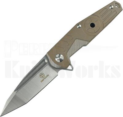 Defcon Blade Works JK Knives Radioactive Knife Aged Brass