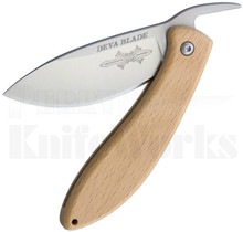 Deva Blade Skanda Friction Folder Knife Beech Wood