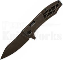 Kershaw Boilermaker Assisted Framelock Knife Brown 3475
