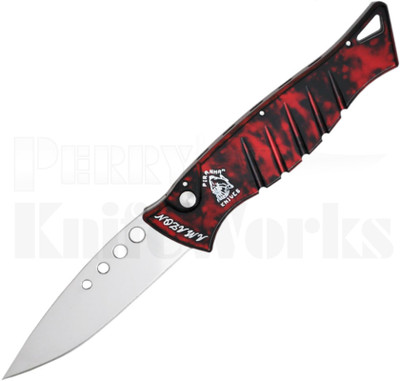 Piranha Amazon Automatic Knife Red Marble P-3R