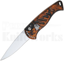 Piranha Fingerling Automatic Knife Orange Marble P-2O