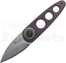 Dan Dugdale Custom 180X2 Folder Knife Purple Aluminum