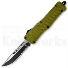 CobraTec Large CTK-1 OTF Automatic Knife OD-Green Drop Point Serrated