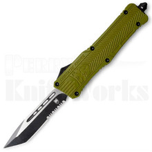 CobraTec Large CTK-1 OTF Automatic Knife OD-Green Tanto Serrated