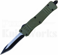 Delta Force Mini OTF Automatic Knife OD-Green Recurve Tanto Blade