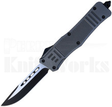 Delta Force OTF Automatic Knife Gray Drop Point Blade