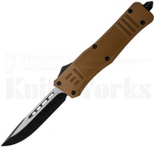Delta Force OTF Automatic Knife Sand Brown Drop Point Blade