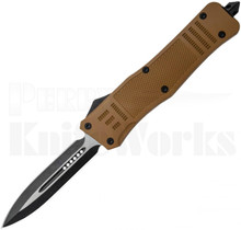 Delta Force OTF Automatic Knife Sand Brown Dagger Blade
