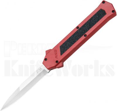 AKC F-16 D/A Satin Bayonet OTF Automatic Knife Red