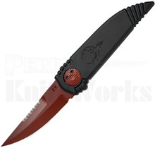 Paragon Phoenix Knife Black - Red Serrated