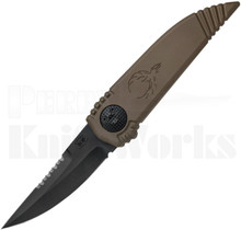 Paragon Phoenix Knife Flat Dark Earth Black Serrated