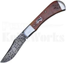 Chris Sharp Custom Slip Joint Knife Amber Bone l Damascus Blade