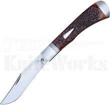 Trae Gaenzel Custom Slip Joint Knife Amber Bone
