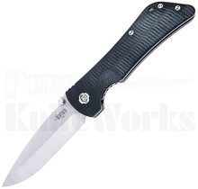Southern Grind Bad Monkey Linerlock Knife Black G-10 l Satin DP Blade
