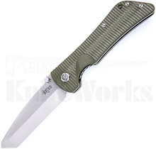 Southern Grind Bad Monkey Knife Green G10 Satin Tanto Blade