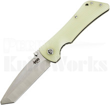 Southern Grind Bad Monkey Knife Jade Green G10 Satin Tanto Blade