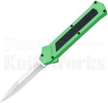AKC F-16 D/A Satin Bayonet OTF Automatic Knife Toxic Green