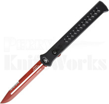 Paragon Estiletto Bowie OTF Automatic Knife Red Serrated