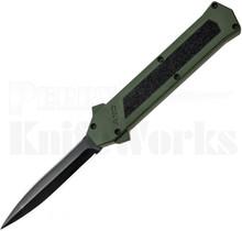 AKC F-16 D/A Black Dagger OTF Automatic Knife Green
