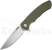 CJRB Cutlery Taiga Liner Lock Knife Green G-10 l D2 Stonewash Blade