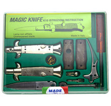 "SKM 4"" Italian Stiletto Automatic Knife Kit Sim Wood"