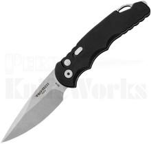 Protech TR-5 Automatic Knife Smooth Black l Stonewash Blade