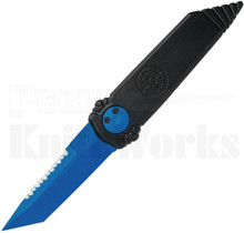 "Paragon Dredd Lock Knife Black Aluminum l 4.0"" Blue Serrated Blade"