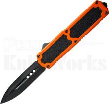 Titan Orange D/A OTF Automatic Knife Black Spear Point