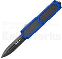 Titan Blue D/A OTF Automatic Knife Carbon Fiber l Black Spear Point
