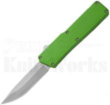 Lightning Zombie Green D/A OTF Automatic Knife l Satin Blade