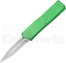 Lightning Zombie Green D/A OTF Automatic Knife l Satin Dagger Blade