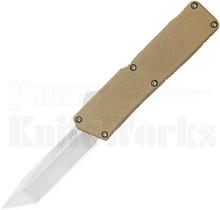 """Lightning Tan D/A OTF Automatic Knife 3.25"""" Satin Tanto"""