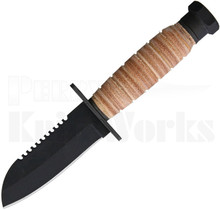 Ontario Journeyman Fixed Blade Knife Stacked Leather 6155