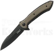 CRKT Ochs Apoc Linerlock Knife Tan G-10 5380