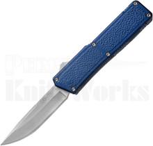 Lightning Blue D/A OTF Automatic Knife l Drop-Point Satin