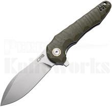 CJRB Cutlery Mangrove Liner Lock Knife Green G-10