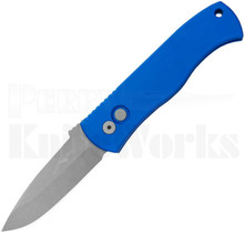 Protech Emerson CQC-7 Automatic Knife Blue l Bead Blast Spear Point