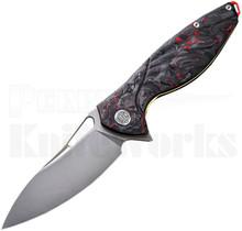 Rike Hummingbird Plus Knife Red Shred Carbon Fiber