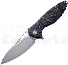 Rike Hummingbird Plus Knife Blue Shred Carbon Fiber