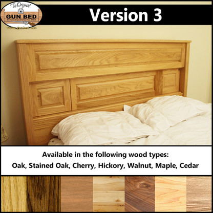 Gun Bed - Version 3. Available in Oak, Stained Oak, Cherry, Hickory, Walnut, Maple, and Cedar.
