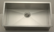 Industrial Rectangular Stainless Steel Kitchen Sink Undermount Single