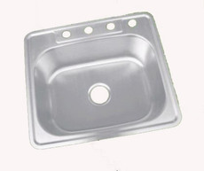 Stainless Steel Kitchen Sink Overmount Single