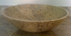 Kashmir White Granite Vessel Bowl